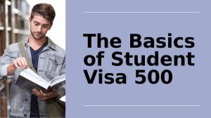 Latest Updated Guide To Apply For Student Subclass 500