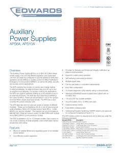 E85005-0127 -- Auxiliary Power Supply