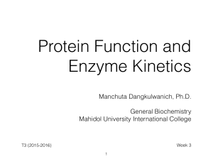 GenBC-Lecture03-Protein and Enzyme Kinetics