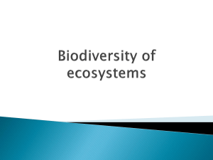 Biodiversity of ecosystems