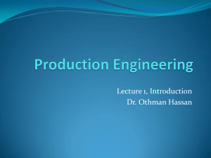 Introduction to Production Engineering