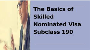 Know How To Apply For Skilled Independent Visa Subclass 190