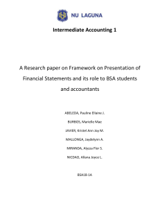 Framework on preparation of financial statements