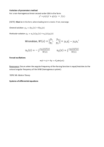 [MATH2019] Final exam notes