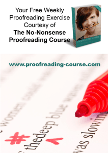 proofreading exercise 1