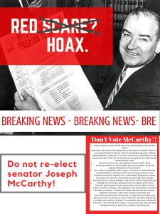 RED SCARE  HOAX.