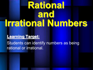 6. notes b rational and irrational numbers