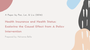 Adrianna Bella - Health Insurance and Health Status