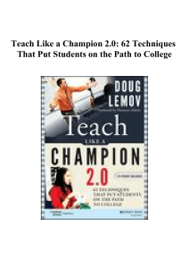 Teach Like a Champion 2.0 62 Techniques