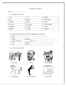 Worksheet for Chapter 3