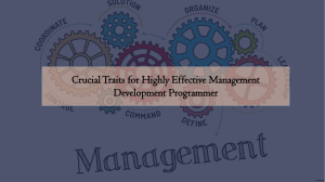 Crucial Traits for Highly Effective Management Development | Ring at +1(240)8399485
