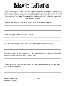 BehaviorReflectionSheet