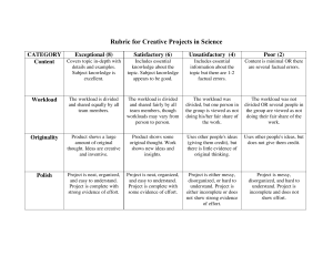 Creative Project Rubric