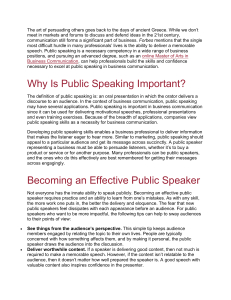 The Importance of Public Speaking in Business Communication by Rider University