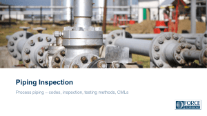 B5. Force - Piping inspection and condition-monitoring program