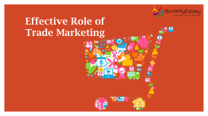 Effective Role of Trade Marketing | Ring at +1(240)8399485