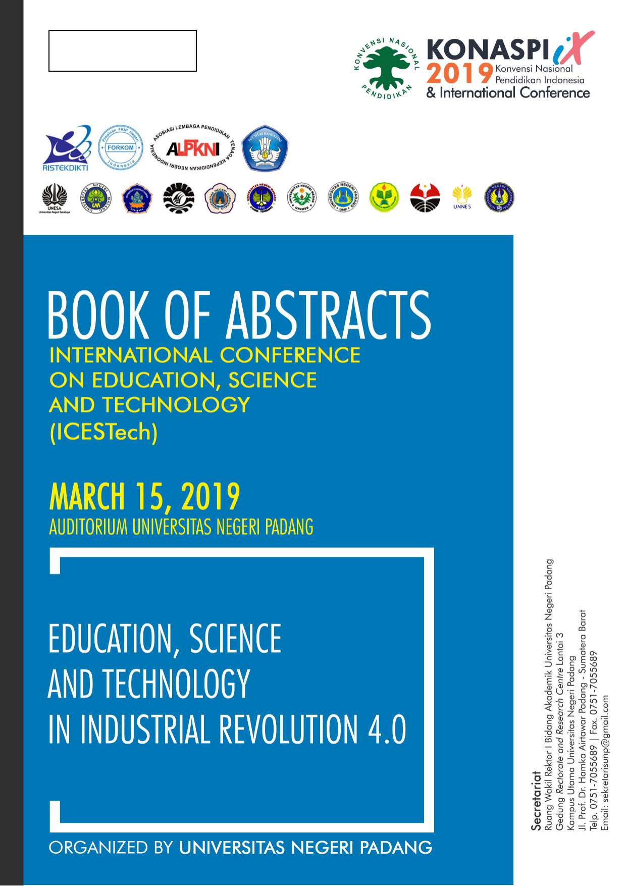 Book Of Abstract Icesstech 2019