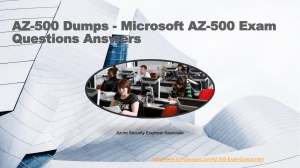 DumpsExpert AZ-500 Practice Test Questions Answers