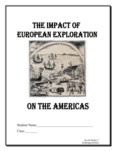 dbq effects of exploration