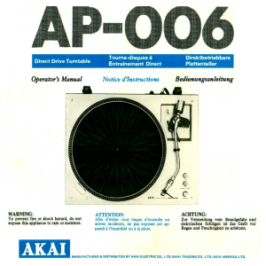 Akai-AP-006-Owners-Manual