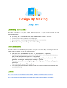 Design By Making-Design Brief
