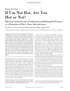 2008 Lee Loewenstein et al on self-assessment and dating