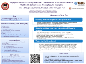 Engaged Research in Family Medicine: Development of a Research Division