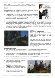 Edward Scissorhands-Descriptive Writing Task