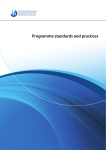 New Programme Standard and Practises- English