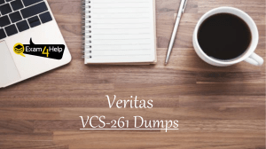 Download VCS-261  Exam PDF Questions Answers | 100% Passing Assurance