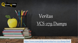 Download VCS-279 Exam PDF Questions Answers | 100% Passing Assurance