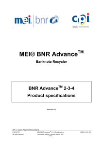 BNR Advance 2-3-4 Specifications 96922-3-044 G3