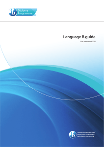 Language B curriculum guide 2020
