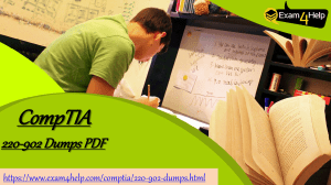 Download 220-902 Exam PDF Questions Answers | 100% Passing Assurance