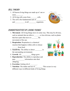 Cell Unit Guided Notes