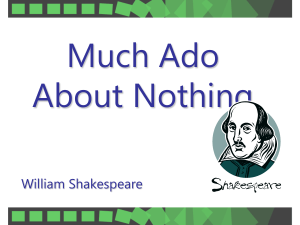 Much Ado character and summary