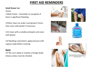 First aid reminders for teachers. staff