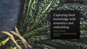 Capturing food knowledge with semantics and embedding