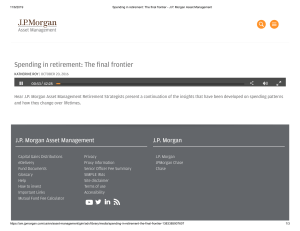 Spending in retirement  The final frontier - J.P. Morgan Asset Management