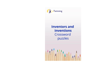 Inventors and inventions. Crossword puzzles
