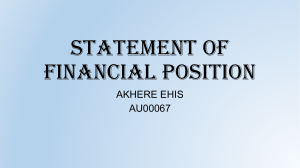EHIS FINANCIAL ASSIGNMENT