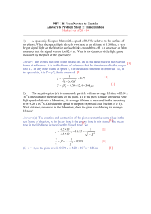 NtE Coursework 7 Time Dilation Answers