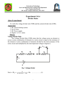 voltage divider rule lab no 5