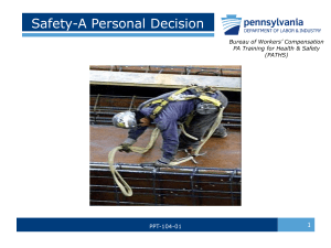 Safety is a Personal Decision