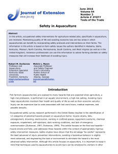 Safety in Aquaculture
