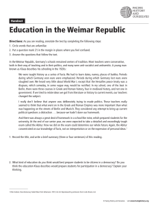 Education Weimar Republic