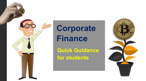 Corporate Finance – Quick Guidance for Students | Ring at +1(240)8399485