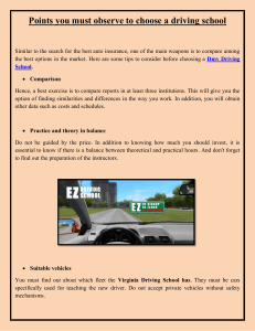 points you must observe to choose a driving school