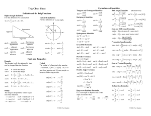 trig cheat sheet reduced