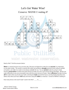 Water Conservation Crossword Puzzle Answers 201312310948356996